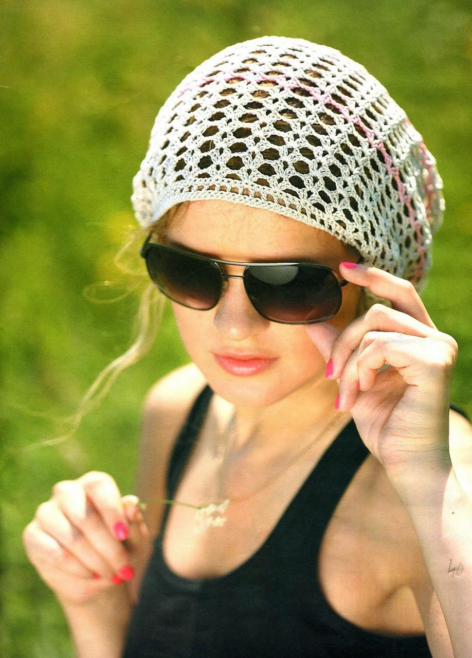 Вязание шапки летние женские