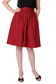 http://www.eshakti.com/shop/Skirts/Belted-poplin-skirt-CL0033354