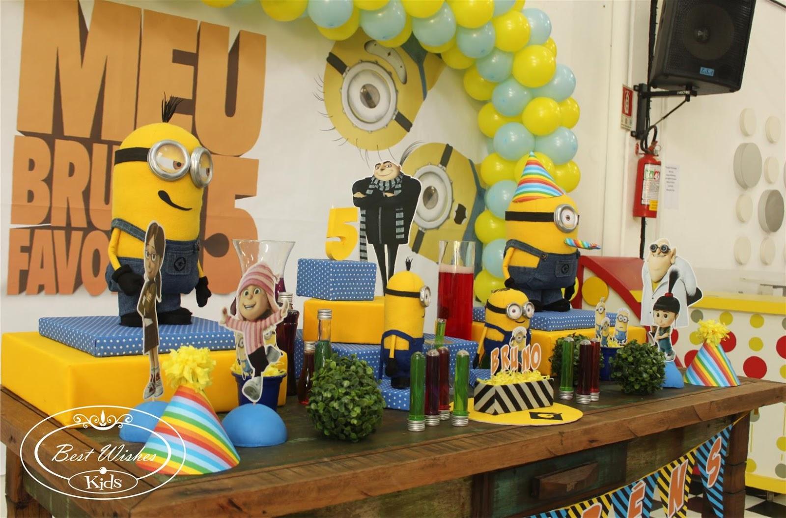 decoracao festa minions : decoracao festa minions:Ufa, conseguimos fazer uma decoração linda!