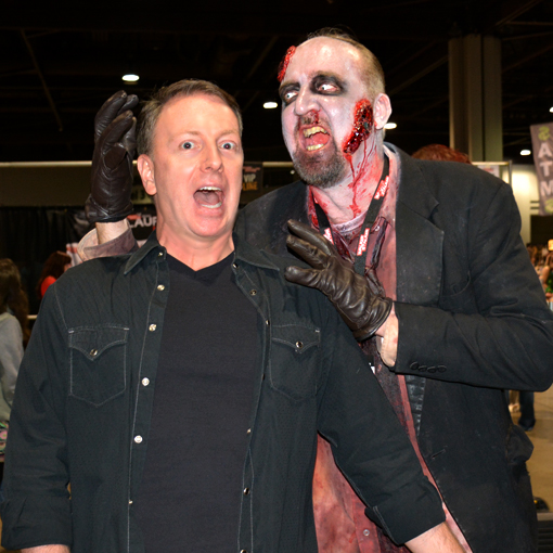 Walker Stalker Con 2015 | Travis & Stan the Zombie