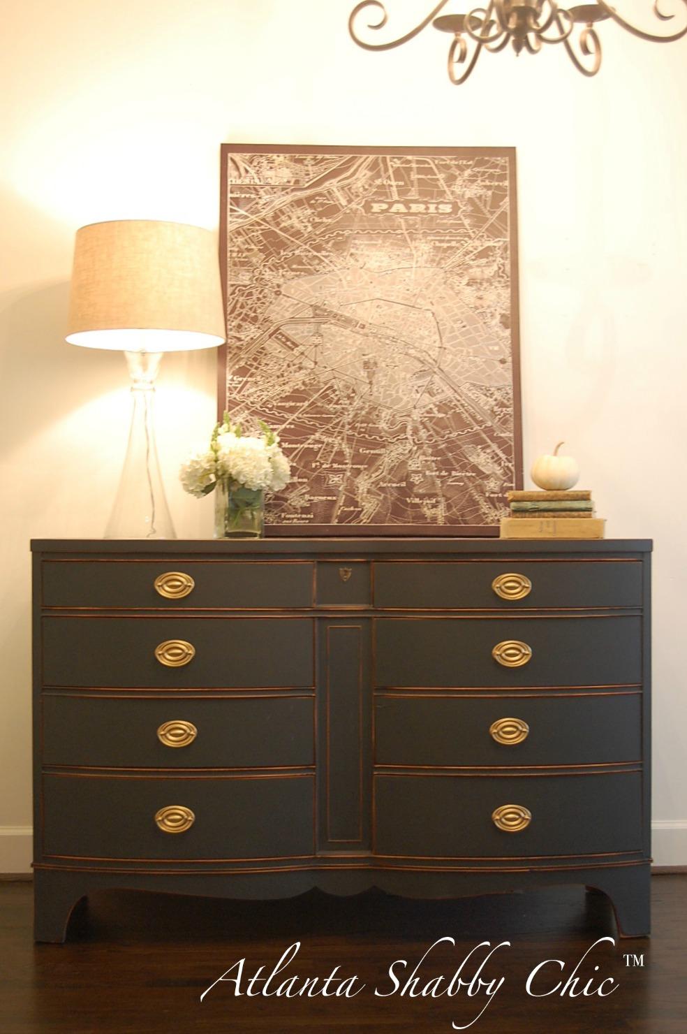 atlanta shabby chic antique bowfront dresser buffet sold. Black Bedroom Furniture Sets. Home Design Ideas