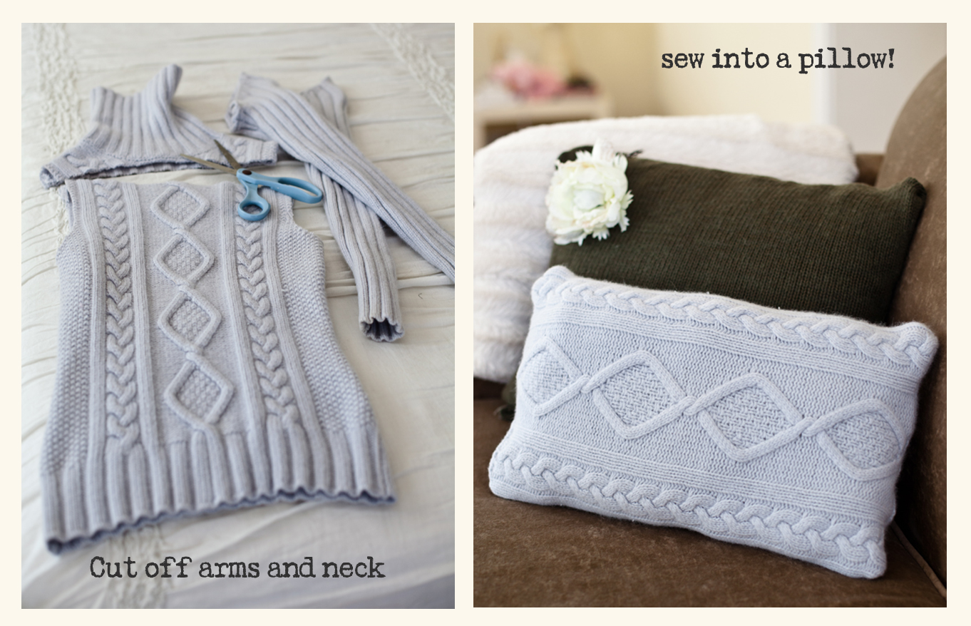 Constantly Evolving: Easy sweater pillows