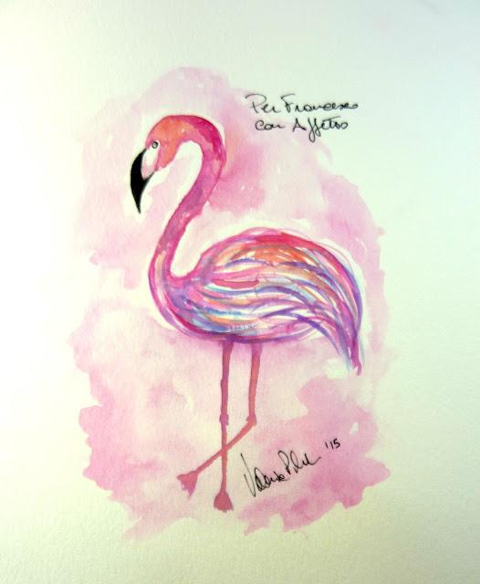 fenicotteri rosa acquerelli