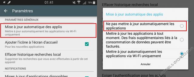 D sactiver les mises jour automatiques des applications android - Application pour mesurer les decibels ...