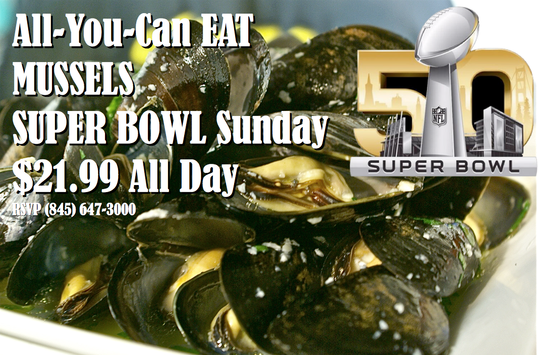 Mussel Bowl, Superbowl Sunday Party at Aroma Thyme