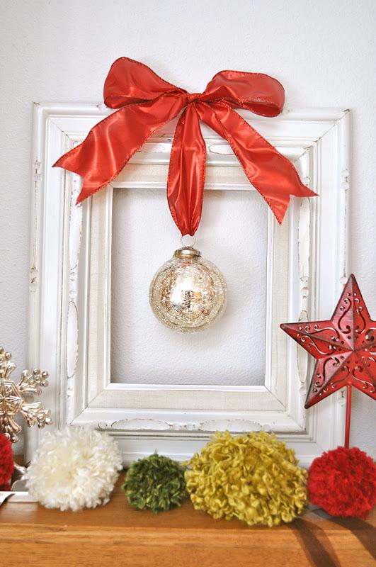 Framed christmas ornament tutorial little birdie secrets