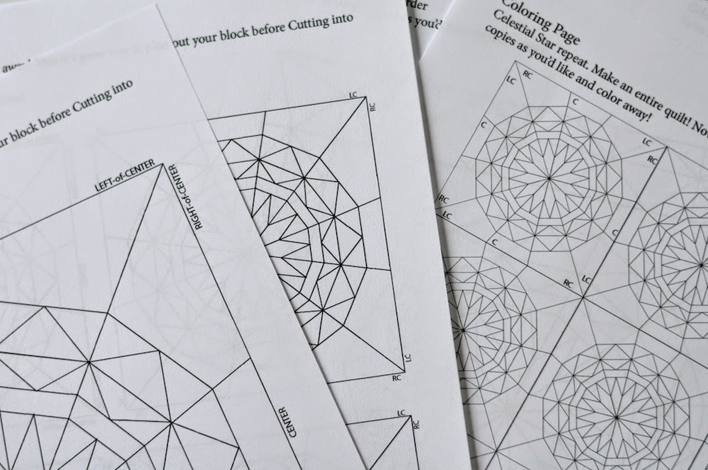 Coloring Pages For Quilt Blocks : From blank pages : celestial star qal: color & design