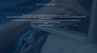 Belum Berjalan Efektif, Situs Revolusi Mental Jadi Korban Peretasan