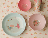 Cute pastel melamine dinner lunch set kids children plate cup bowls Australia Australian