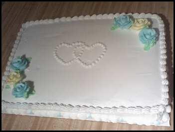 Cupcake Lady Wedding Shower Sheet Cake