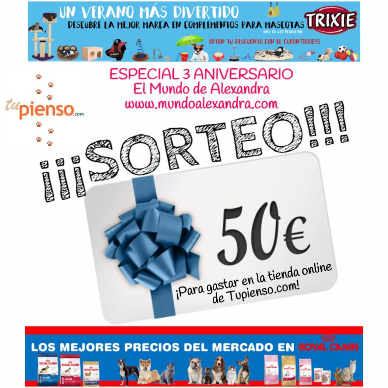 SORTEO ESPECIAL ANIVERSARIO CON TUPIENSO.COM