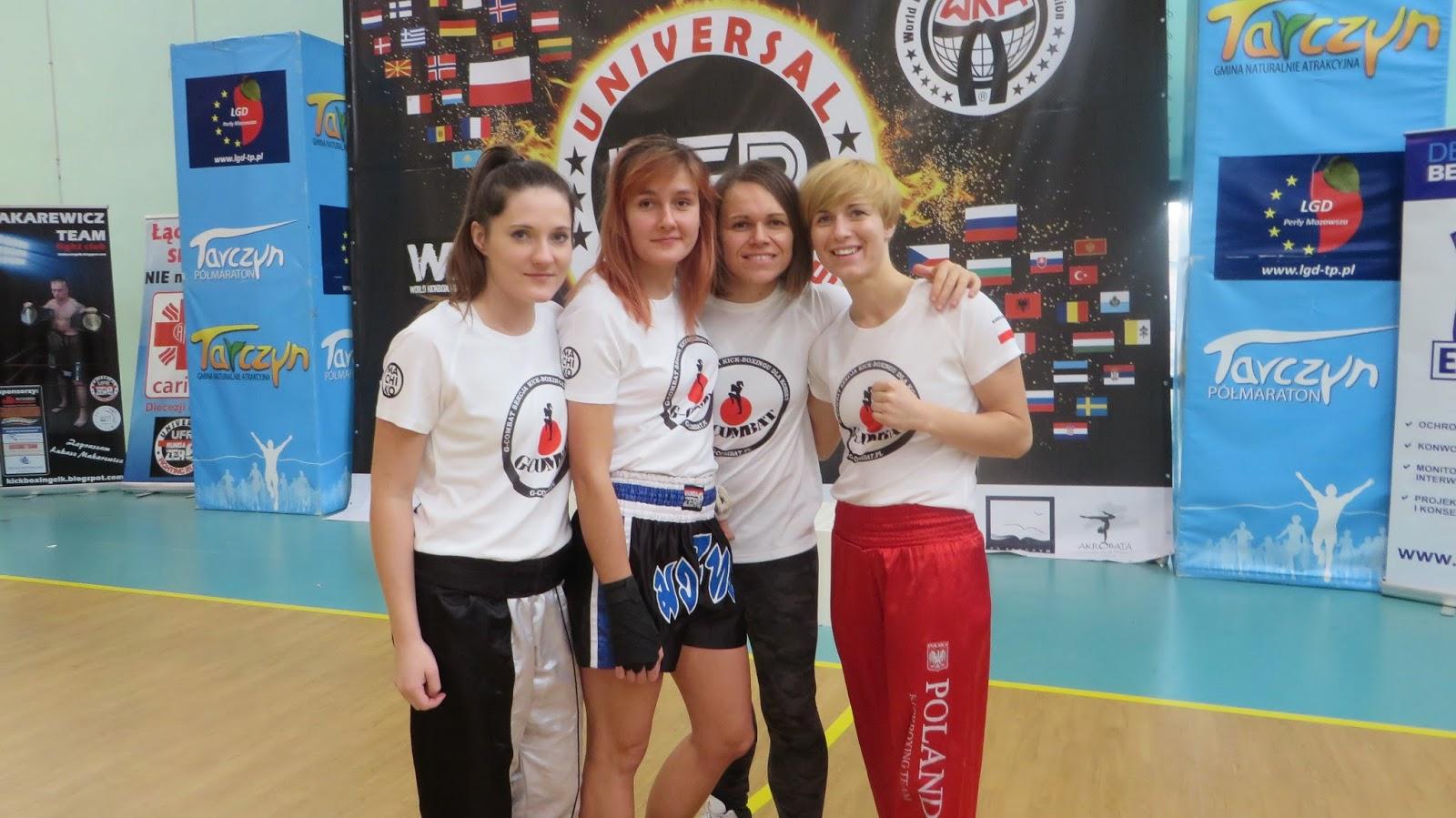 Sekcja kickboxingu dla kobiet Warszawa na turnieju Mazovia Cup