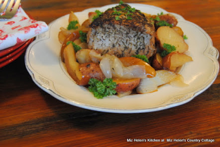 Maple Pork Loin Roast with Apples and Vegetables