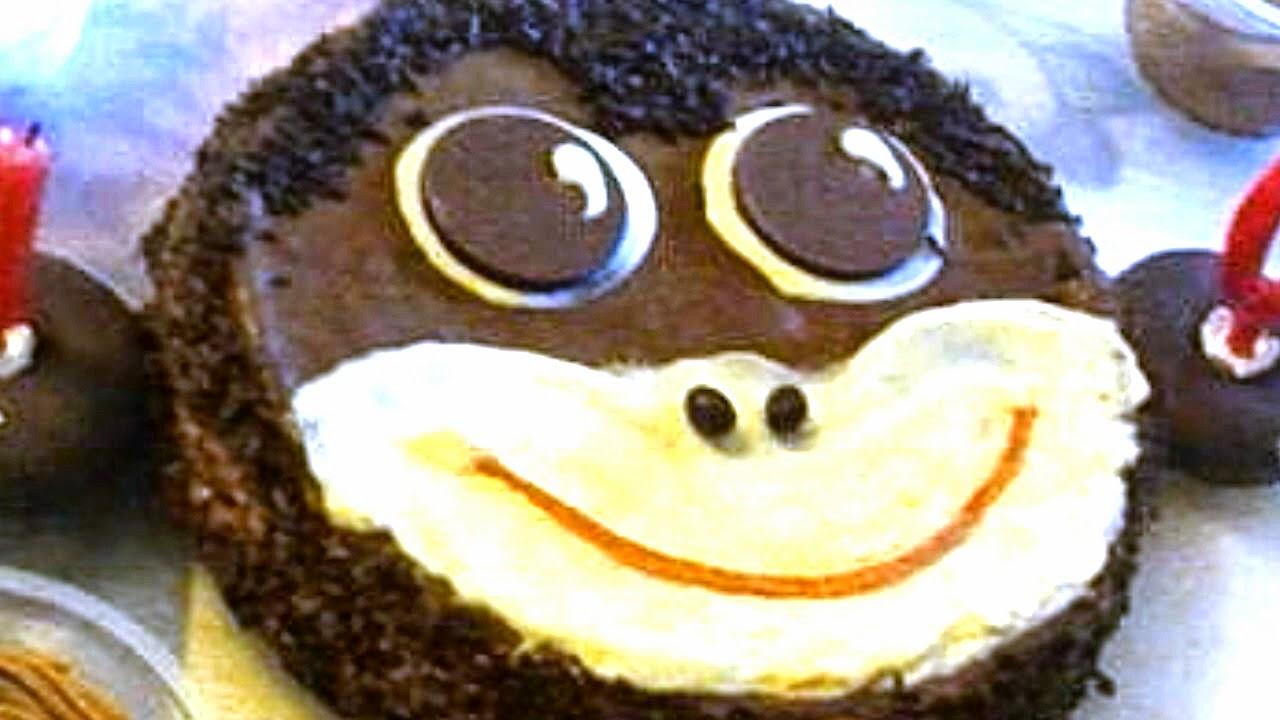 tarta mono de chocolate, mono de chocolate, tarta mono, cara mono, pintando la mona, tarta animal, tarta divertida, tarta graciosa, tarta cumpleaños, mono, chocolate,animal