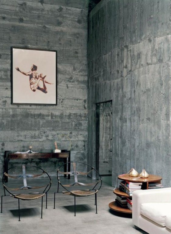 Industrial chic on pinterest loft industrial loft and loft style - Decorating concrete walls ...