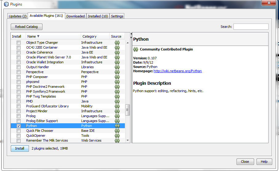 Tharindu's Tech Psalms: Python in Netbeans 7.1.1 Javadoc Not Found Netbeans