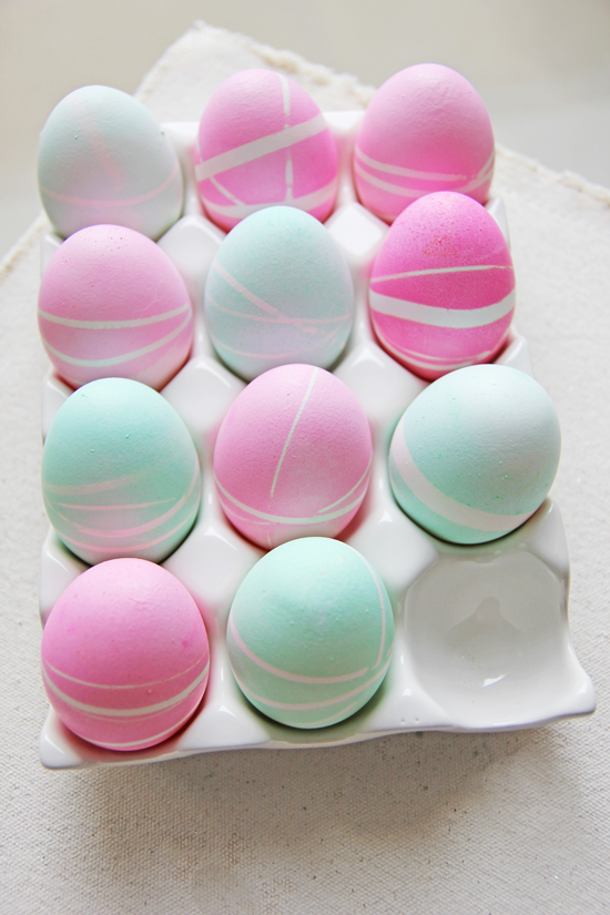 Pastelowe jajka wielkanocne