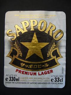 Sapporo premium lager beer