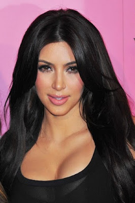 Kim Kardashian in Black Short Skirt in a Victoria's Secret Fashion Event