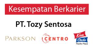 Lowongan Kerja di PT Tozy Sentosa (Parkson Department Store) – Hartono Mall Yogyakarta