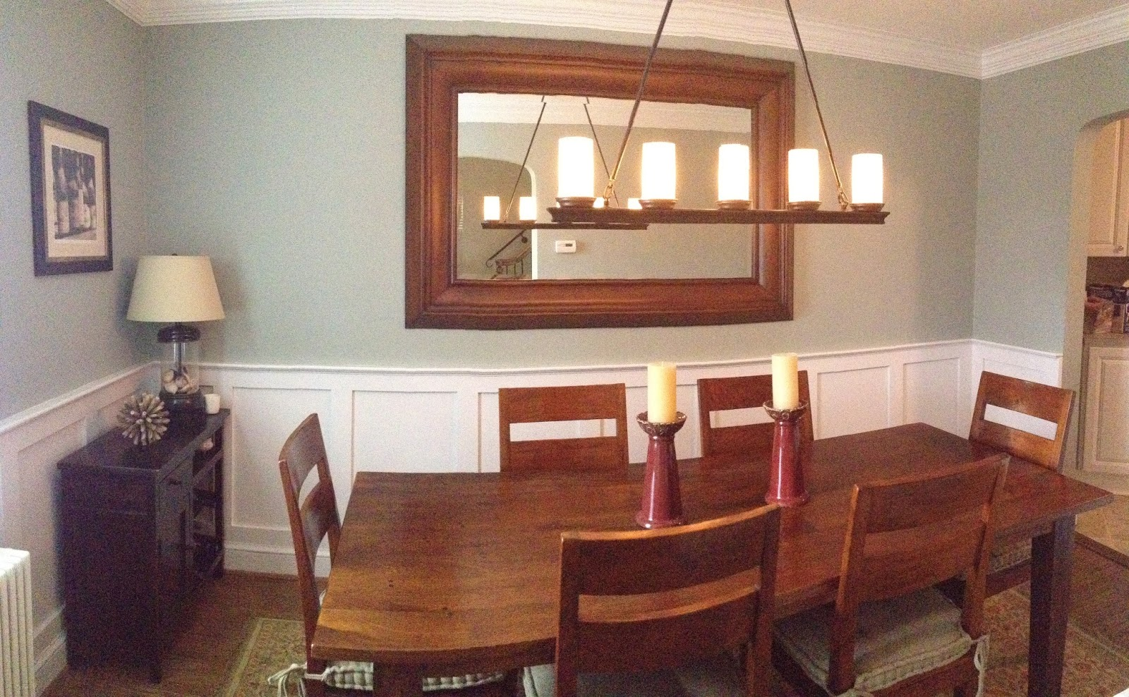 Dining rooms with chair rails for Dining room chair ideas