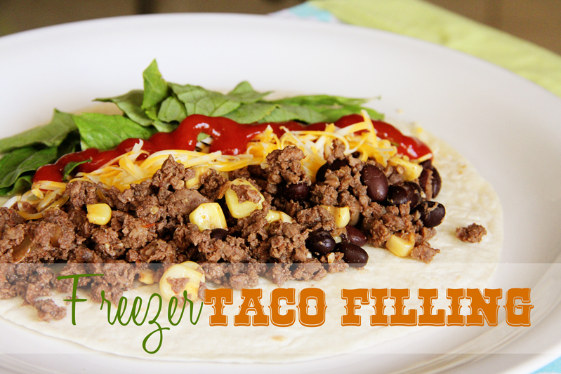 Lovely Little Snippets: Freezer Taco Filling