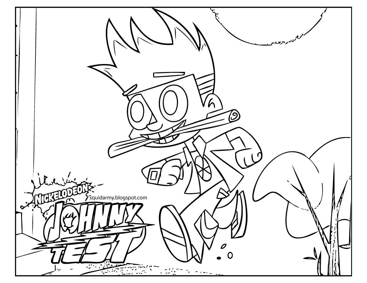 johnny test coloring pages - photo#12