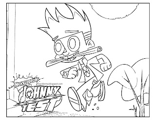 Johnny Test coloring pages runing