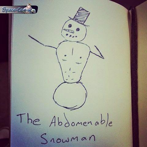 funny comics snowman picture
