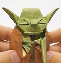Origami Maniacs: Origami Jedi Master Yoda by Fumiaki Kawahata - photo#14