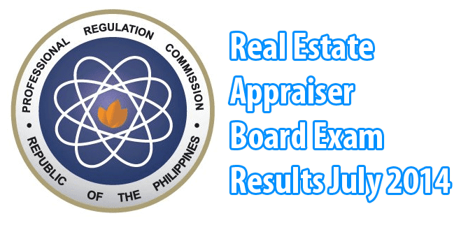 Real Estate Appraiser Board Exam Results July 2014