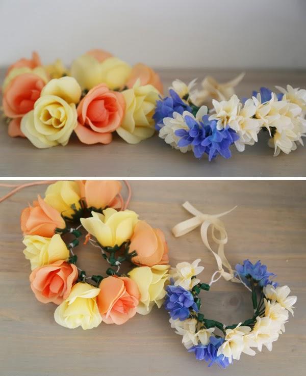DIY coronas de flores para perros