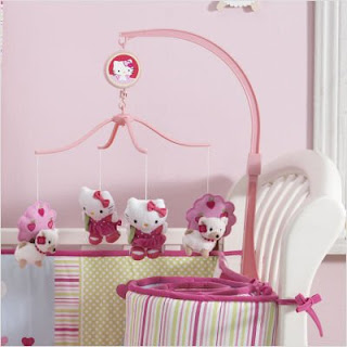 Hello Kitty baby nursery room crib mobile