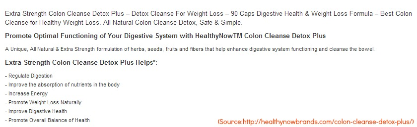 Sharingdelights Healthynow Colon Cleanse Detox Plus