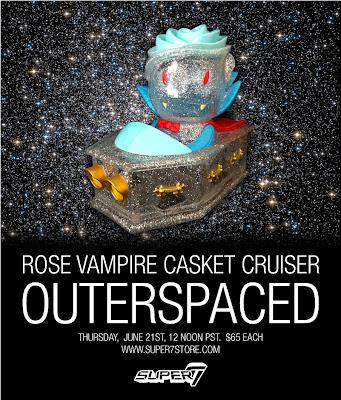Super7 Outerspaced Rose Vampire Casket Cruiser by Josh Herbolsheimer