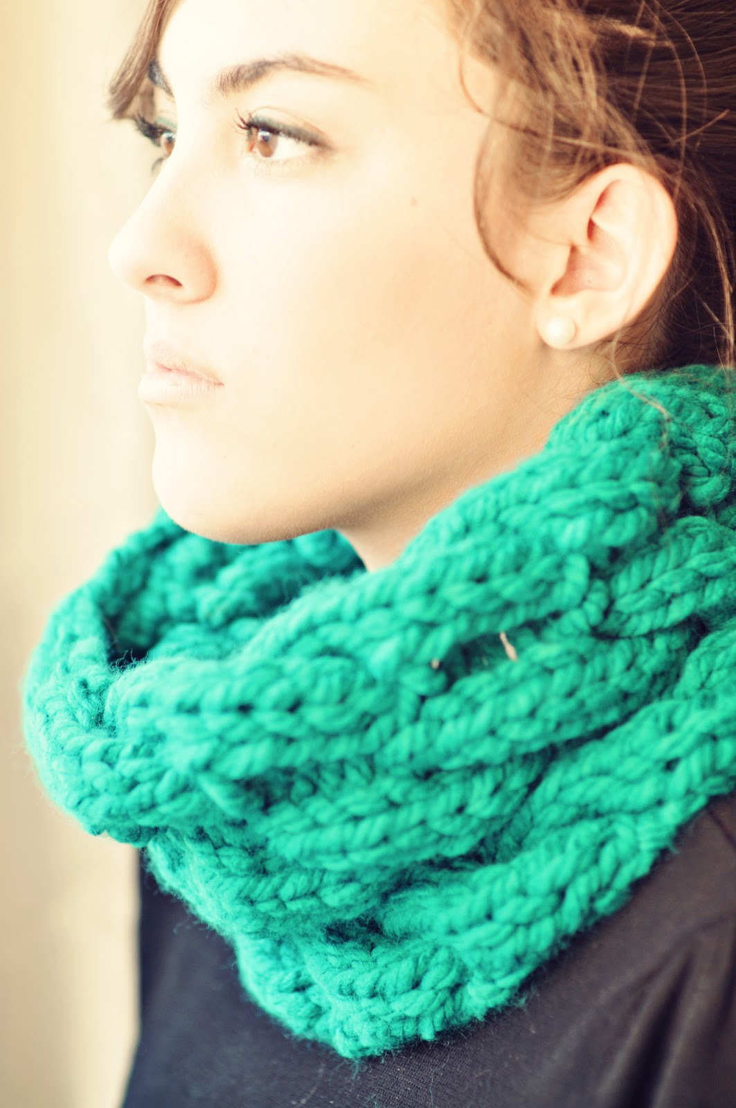 Free Knit Cowl Pattern : the jilted ballerina: KNITTING: Chunky Cable Cowl