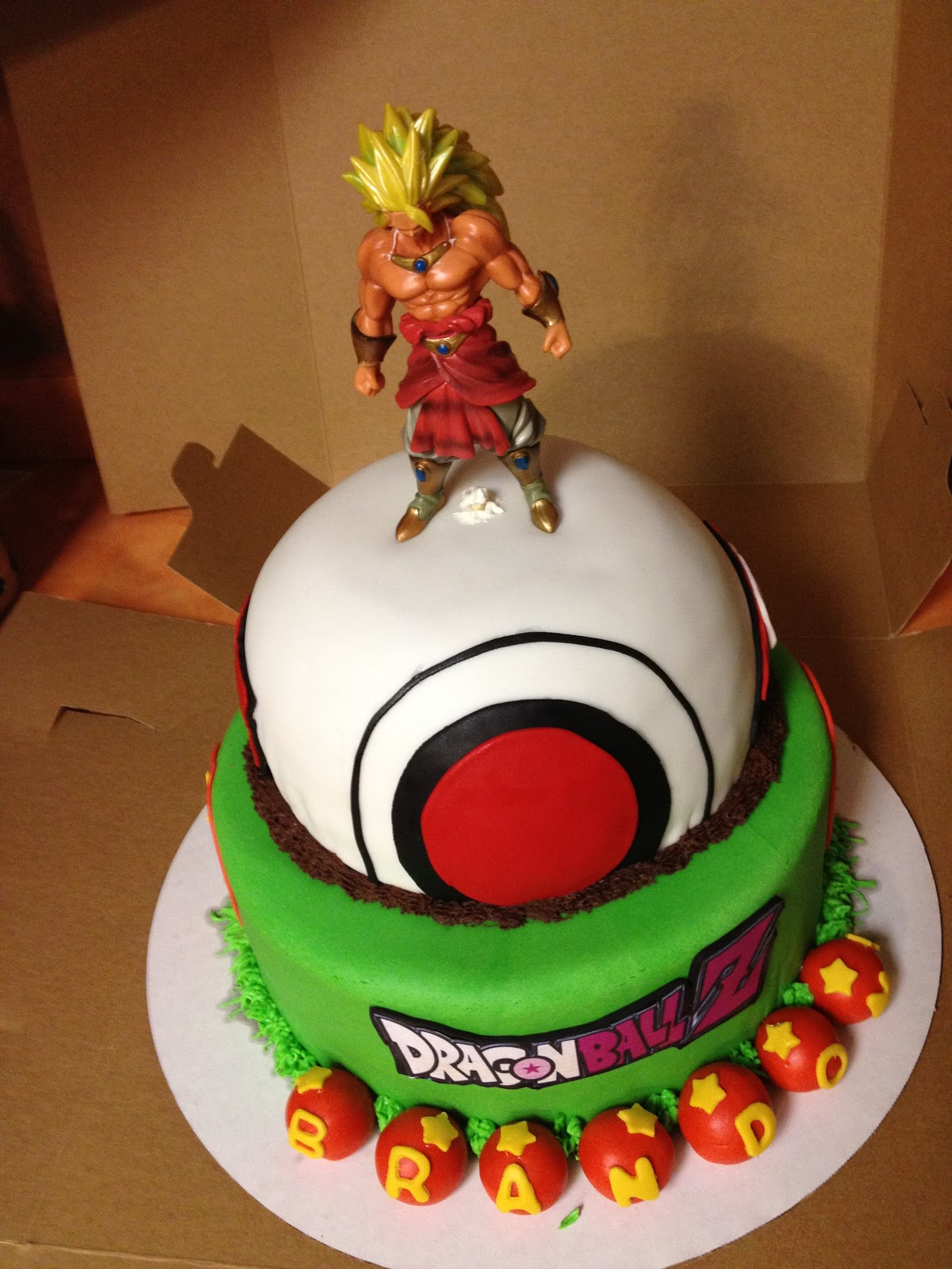 Cake Arch Balloon Design : Love to Bake!: Drazon Ball Z Cake