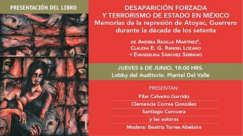 """Presentación del libro """"Desaparición forzada y terrorismo de estado en México"""" en la UACM"""