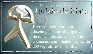 """Premio Indalo de Plata de """"la cocina de Trini altea"""""""