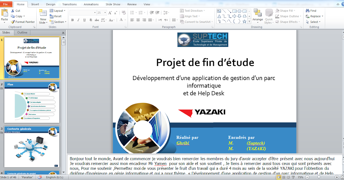 ppt 2016  exemple de template powerpoint pour un pfe