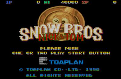 街機-雪人兄弟(Snow Bros.),一起來把敵人滾成雪球吧!