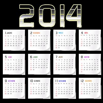 Linda base calendário 2014