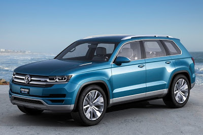 Volkswagen CrossBlue previews a three-row future, diesel-hybrid power