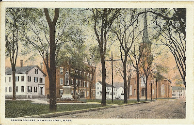 Brown Square Hotel, Newburyport, Massachusetts, postcard, ghost, garrison inn