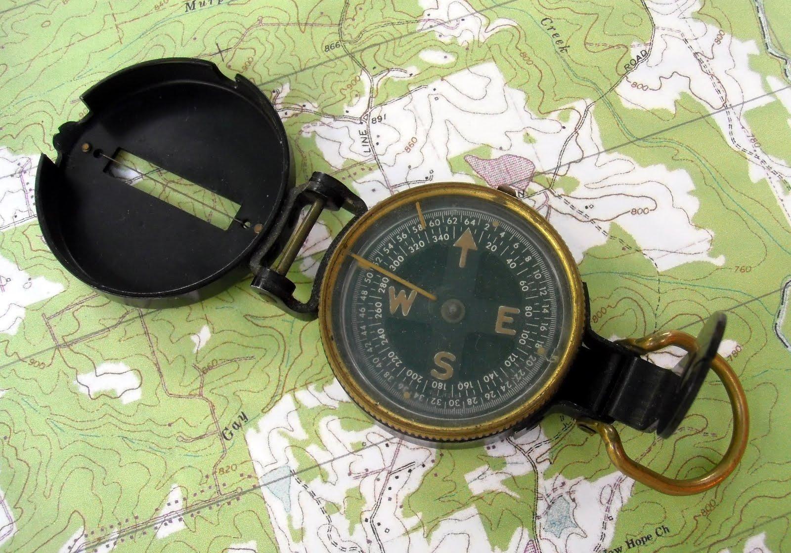 A Model 1938 M1938 lensatic compass manufactured