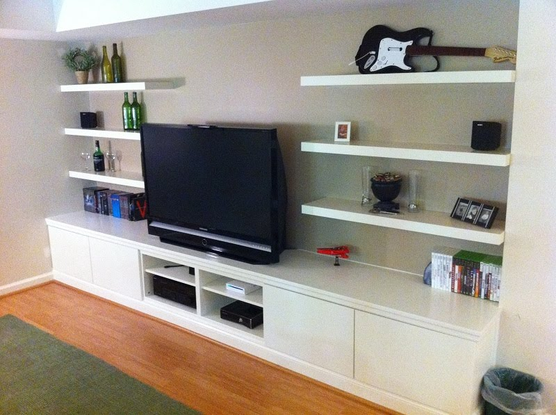 built in besta home theater ikea hackers ikea hackers. Black Bedroom Furniture Sets. Home Design Ideas