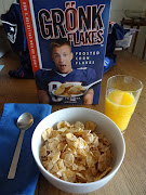 Gronk Flakespart of a nutritious breakfast .or something like that