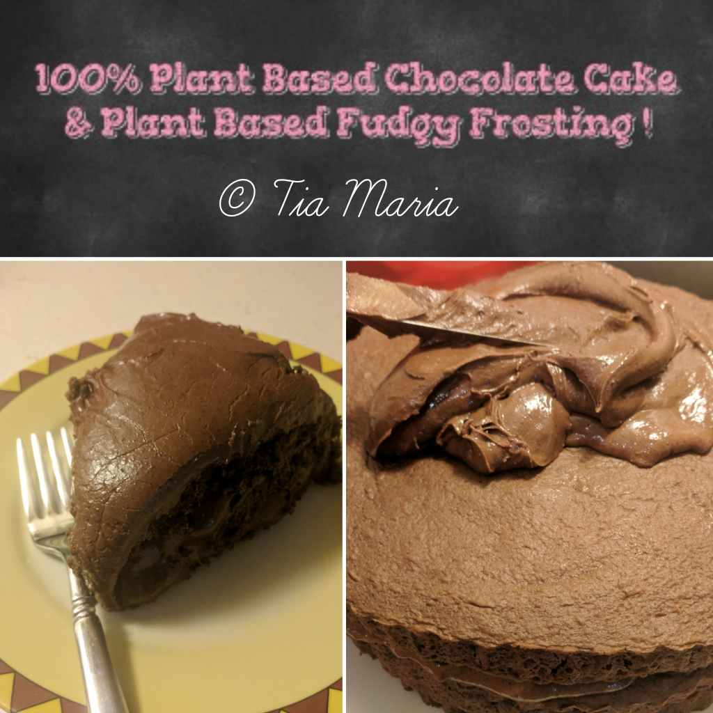 Plant Based Chocolate Cake and Plant Based Frosting