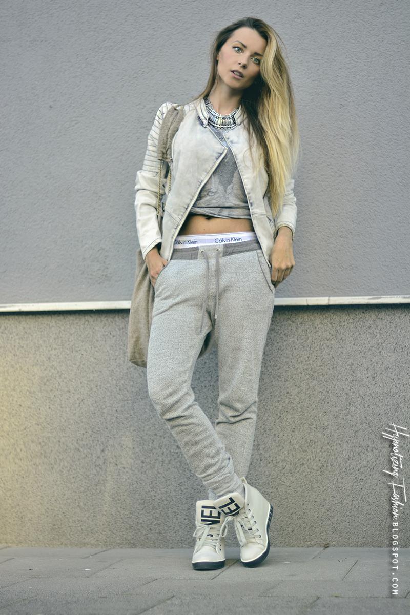 stylizacja spodnie dresowe