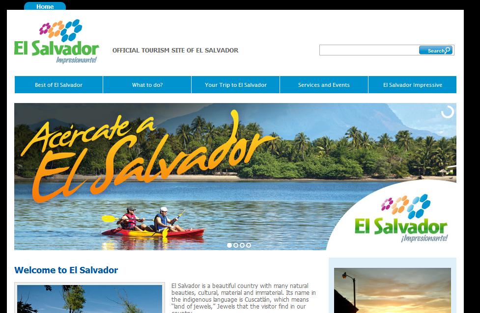 El salvador y su promocion turistica recomendaciones para for Paginas web sobre turismo